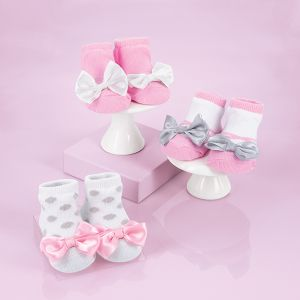 3-Pack Baby Socks with Ribbons