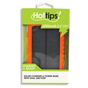 HotTips Solar Charger and Power Bank