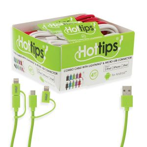 HotTips Combo Apple Lightning and Micro-USB Cable