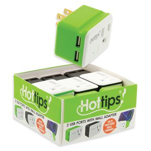 HotTips Wall Adapter with 2 USB Ports