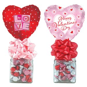 Valentine Glass Cube Kelliloons - Chocolate