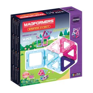 Magformers Magnetic Building Set - 14 Piece - Pastel