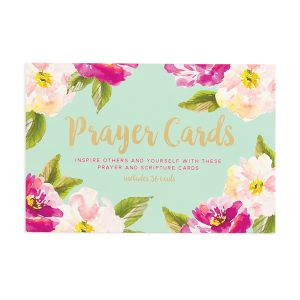 Scripture and Prayer Card Boxed Set - Mint Green Box