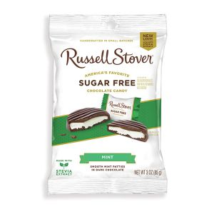 Russell Stover Sugar-Free Chocolate Covered Candy - Mint Patties